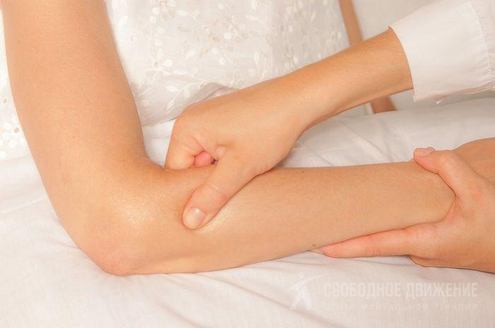 Шишка на локтевом суставе мягкая болит