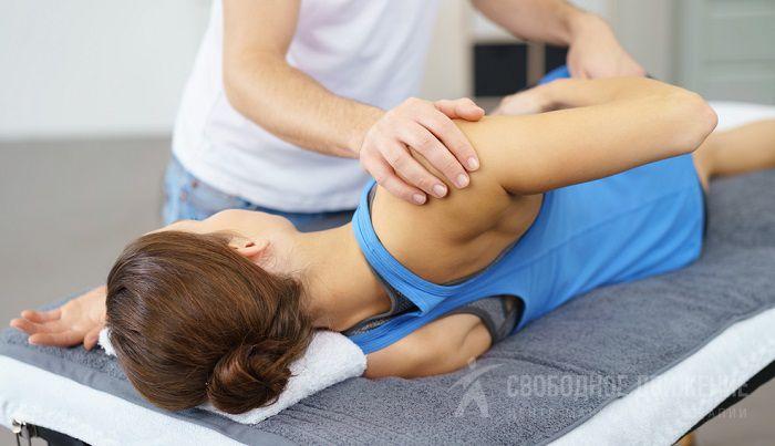 Методика массажа при вывихе плечевого сустава выбитые суставы