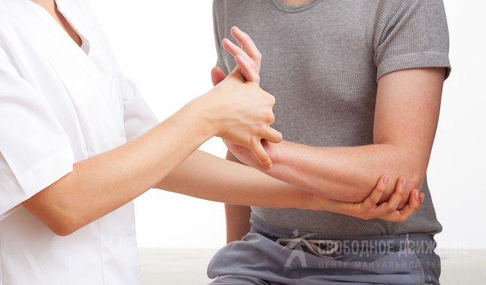 Немение суставов плеча массаж ноги после перелома коленного сустава